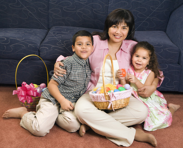 Stock photo: Family celebrating Easter.