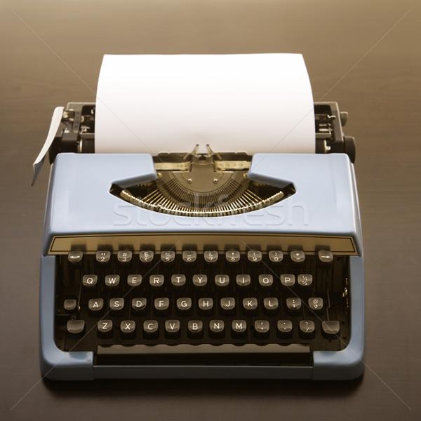Pasado de moda máquina de escribir naturaleza muerta hoja papel negocios Foto stock © iofoto