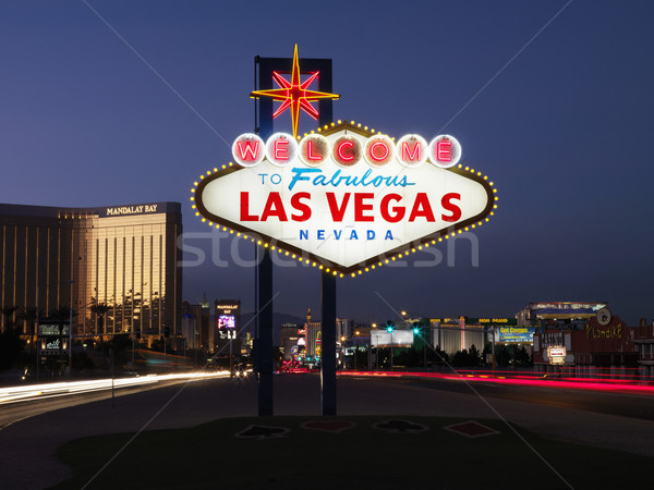 Las Vegas Welcome Sign at Dusk Stock photo © iofoto