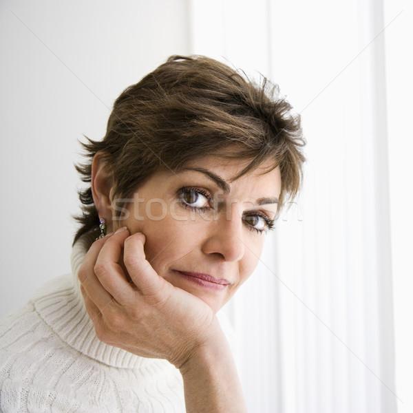 肖像 女性 頭 肩 かなり 白人 ストックフォト © iofoto
