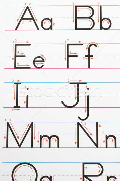 Alphabet handwriting. Stock photo © iofoto