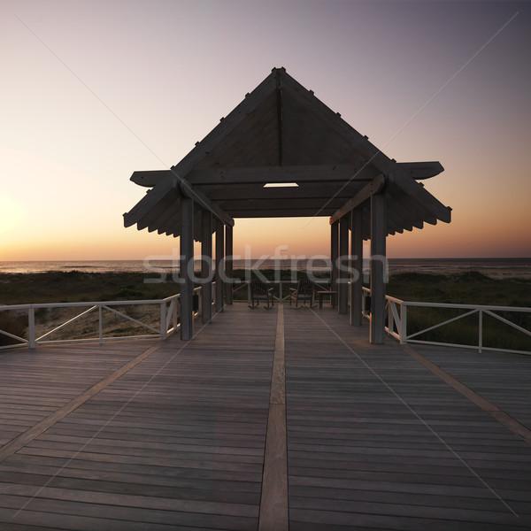 Gazebo at coast. Stock photo © iofoto