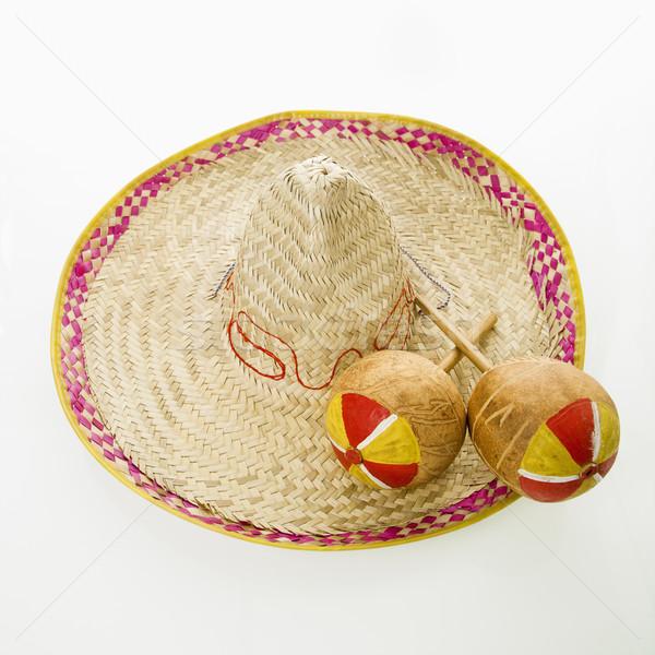 Sombrero and maracas. Stock photo © iofoto