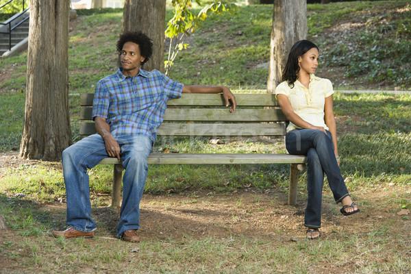 Couple sitting apart. Stock photo © iofoto