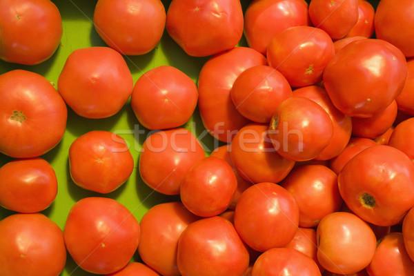 赤 トマト 作り出す 市場 ストックフォト © iofoto