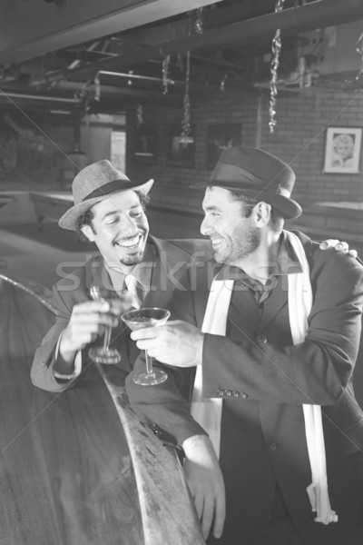 Men drinking at bar. Stock photo © iofoto
