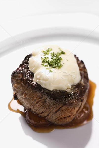 Marhahús vacsora főfogás filé körítés barna Stock fotó © iofoto