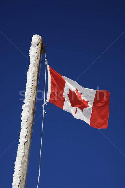 Drapeau canadien Voyage pavillon couleur vacances tourisme Photo stock © iofoto
