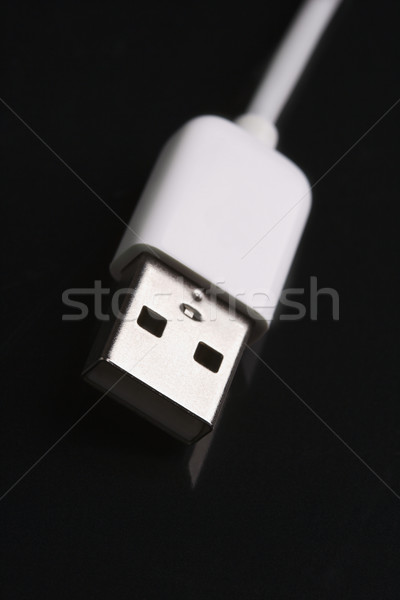 шнура черный цвета проволоки связи Сток-фото © iofoto