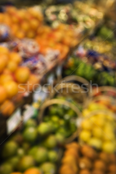 Produire épicerie floue fruits alimentaire couleur Photo stock © iofoto