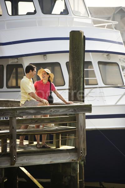 Couple at dock. Stock photo © iofoto
