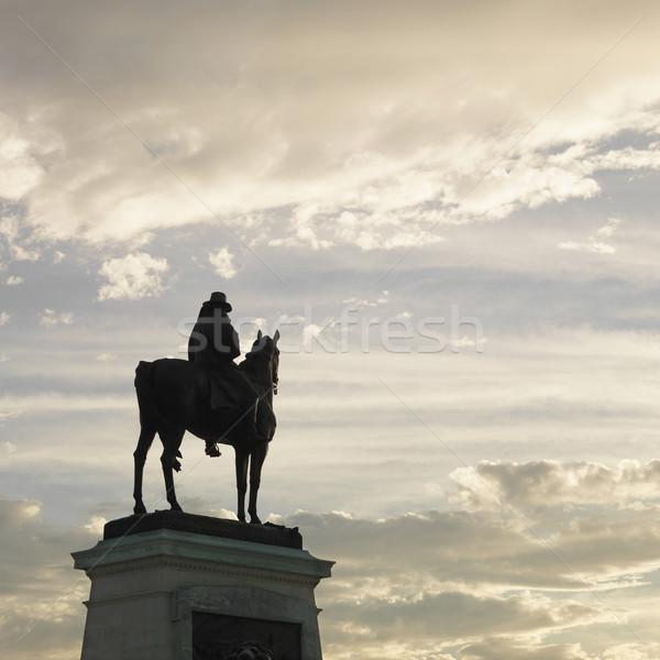 Foto d'archivio: Statua · Washington · DC · silhouette · USA · cavallo