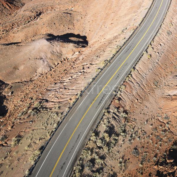 Manzaralı karayolu Utah çöl manzara ABD Stok fotoğraf © iofoto