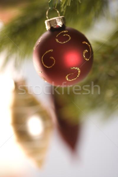 Stock photo: Christmas ornaments.
