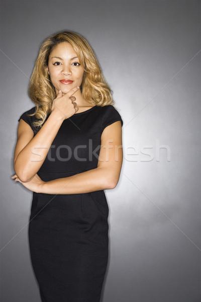 Portrait of pretty woman. Stock photo © iofoto