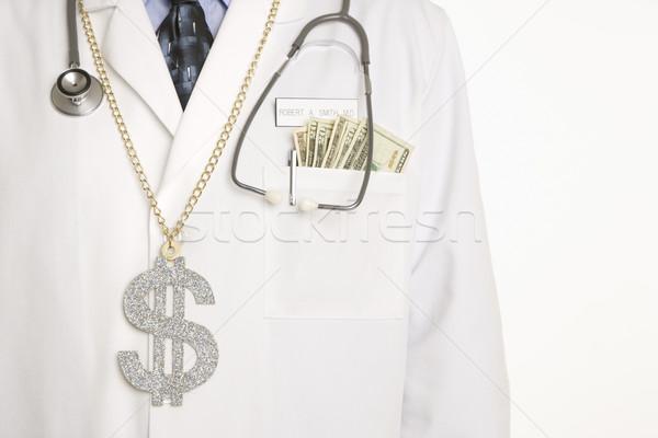 Stockfoto: Arts · cash · kaukasisch · volwassen · mannelijke