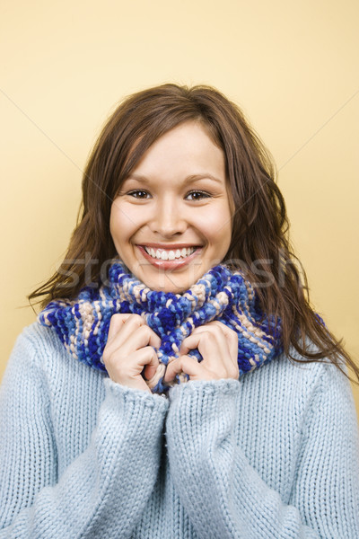 Woman wearing scarf. Stock photo © iofoto