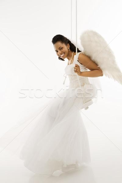 Angélique mariée Swing femme femmes mariage Photo stock © iofoto