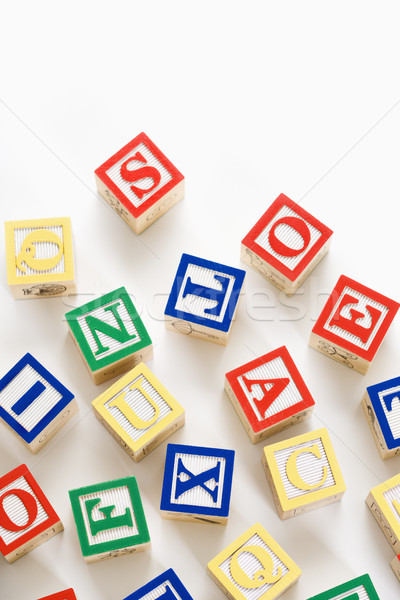 Alphabet toy blocks. Stock photo © iofoto