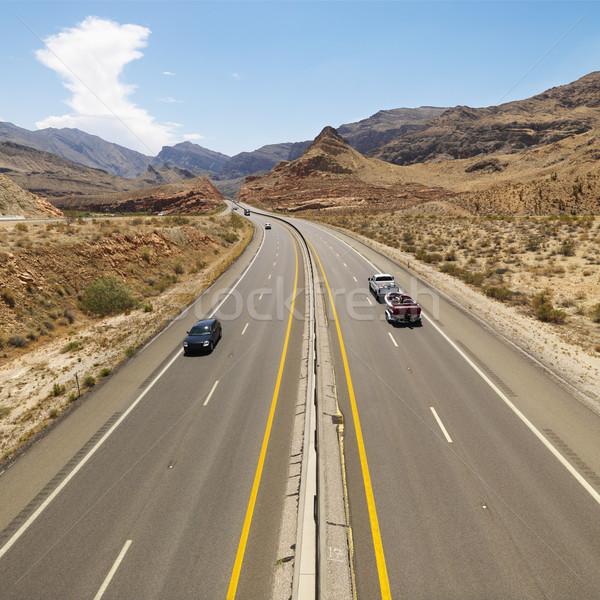 Cars on desert highway. Stock photo © iofoto