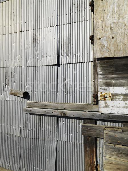 Metal siding. Stock photo © iofoto