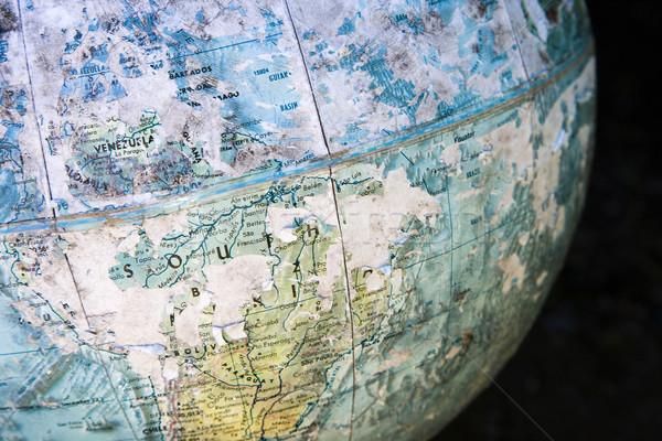 Close-up of old globe. Stock photo © iofoto