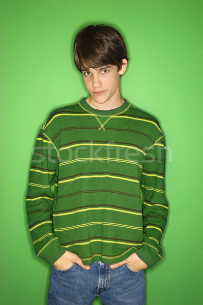 Boy with hands in pockets. Stock photo © iofoto