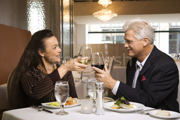 Couple on dinner date. Stock photo © iofoto
