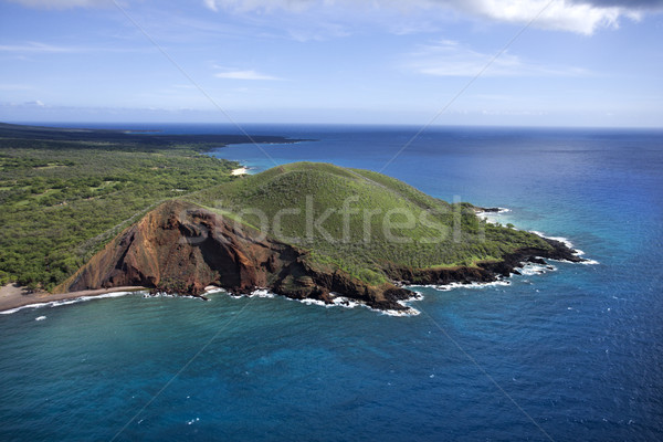 Crater on coast. Stock photo © iofoto