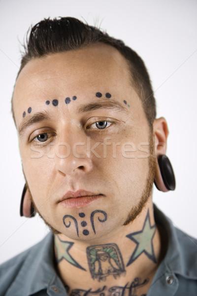 человека кавказский мужчин портрет звездой Сток-фото © iofoto