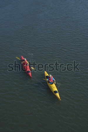 Ragazzi Ocean kayak due ragazzi adolescenti Foto d'archivio © iofoto