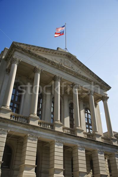 Georgië gebouw atlanta vlag kleur architectuur Stockfoto © iofoto