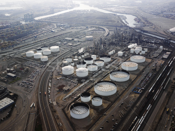 Oil refinery aerial. Stock photo © iofoto