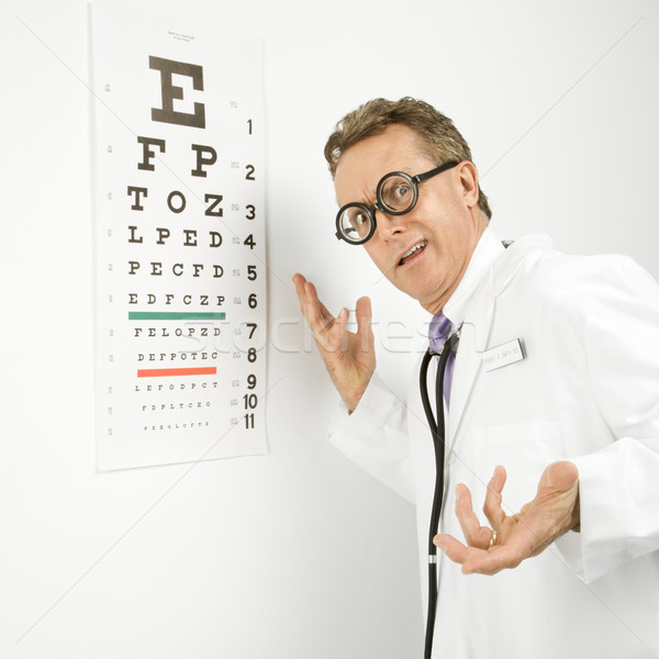 Ophthalmologist doctor. Stock photo © iofoto