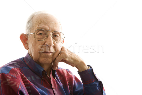 Portrait of elderly man. Stock photo © iofoto