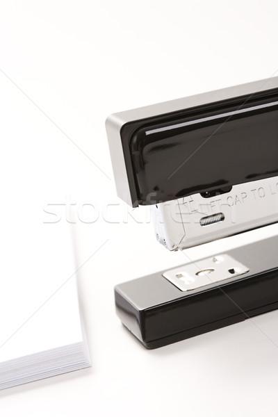 ホッチキス 紙 黒 白 スタック ストックフォト © iofoto