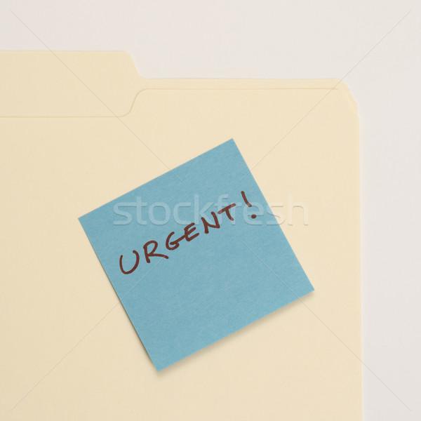 Pilny karteczkę folderze dołączone czytania działalności Zdjęcia stock © iofoto