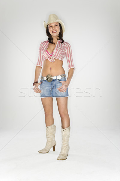 Jovem caucasiano mulher olhando mulheres moda Foto stock © iofoto