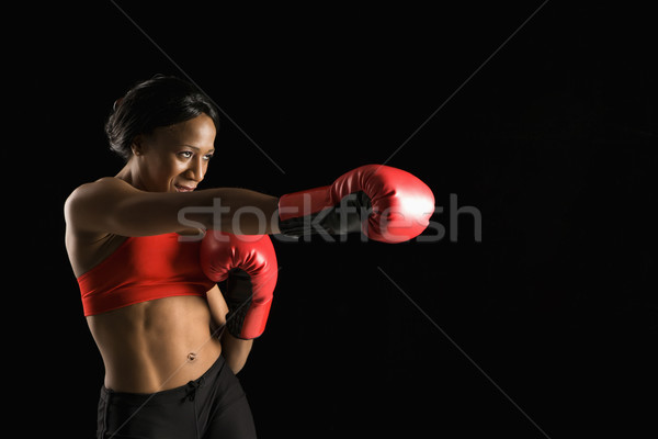 Woman boxing. Stock photo © iofoto
