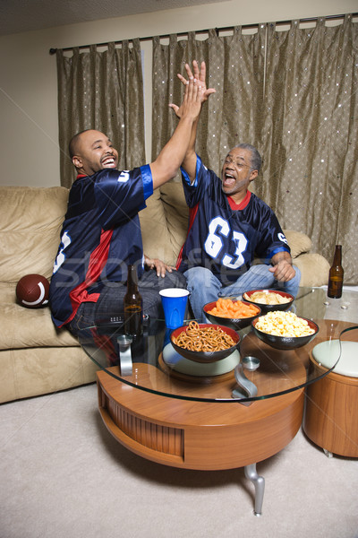 Men watching sports. Stock photo © iofoto
