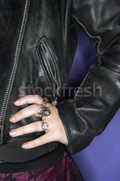 Goth kadın kafkas el kalça Stok fotoğraf © iofoto
