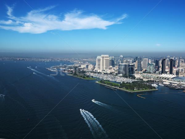 San Diego part légifelvétel épületek Kalifornia város Stock fotó © iofoto