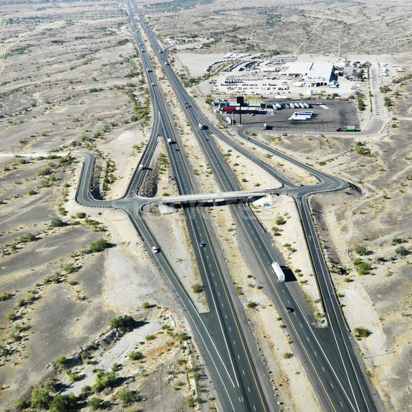 Stock foto: Arizona · Wüste · zwischenstaatlichen · Luftbild · 10 · Südwesten