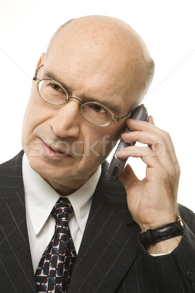 Empresário celular caucasiano branco trabalhar Foto stock © iofoto