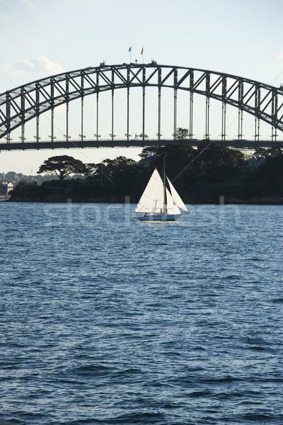 Sydney haven brug boot zeilboot Australië Stockfoto © iofoto