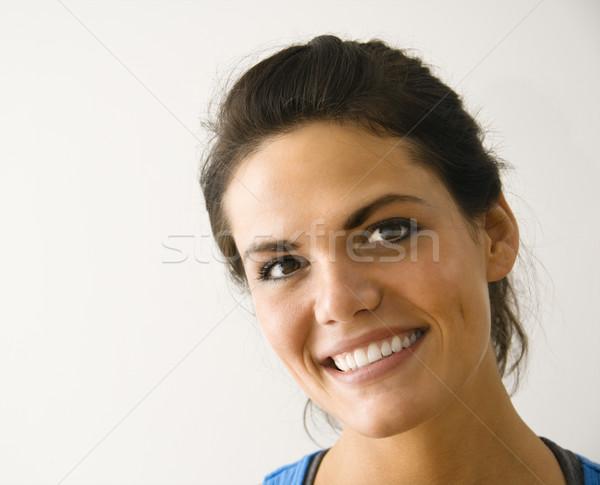 ストックフォト: 幸せ · 女性 · 頭 · 肩 · 肖像 · 女性の笑顔