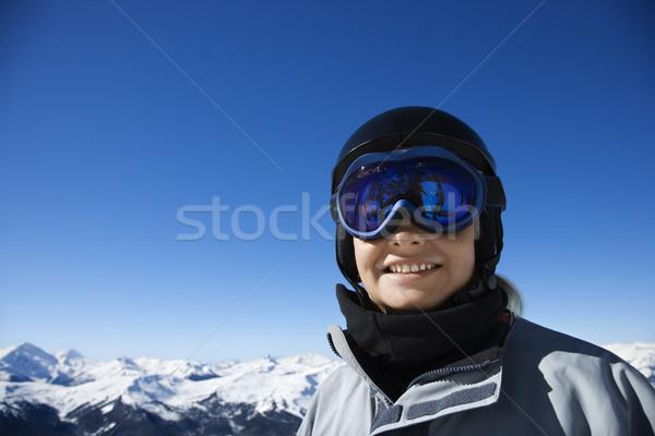 Foto stock: Nino · esquí · artes · caucásico