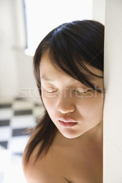 Mooie jonge asian vrouw hoofd schouder Stockfoto © iofoto