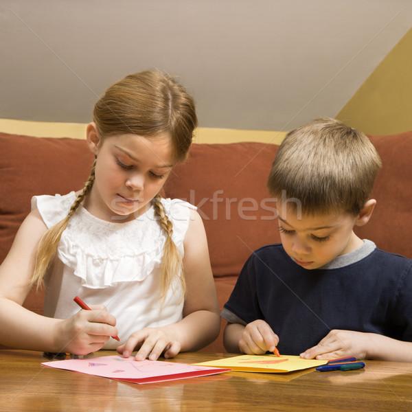 Children drawing. Stock photo © iofoto