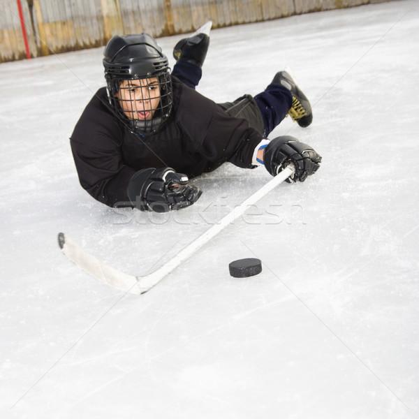 Stock photo: Ice hockey player.